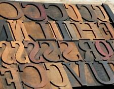 """Rare font Wood Type character - You Choose """"your"""" letter -Letterpress wooden"""