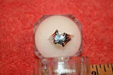 Vintage Marked Stuller 1967 14k White Solid Gold & Topaz Ladies Ring size 5.25