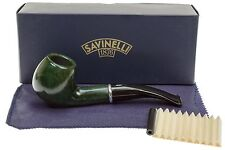 Savinelli Arcobaleno 626 Green Tobacco Pipe - Smooth