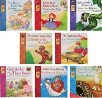 8 Libros Conjunto bilingüe (Ingles - Español) de libros de cuentos clásicos