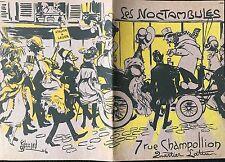"""BERNARD ÉDOUARD """"LES NOCTAMBULES"""" PLAQUETTE DE 24 PAGES 1906"""