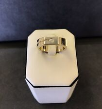 Baraka Men's 18k Yellow Gold Diamond Ring Made In Italy