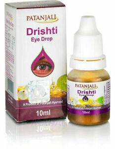 10X Patanjali Drishti Herbal Ayurvedic Eye Drops 10 ml - Pack of 10