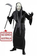 Grim Reaper Horror Robe Death Skeleton Men Costume SCARY & CHEAP TOO!!!