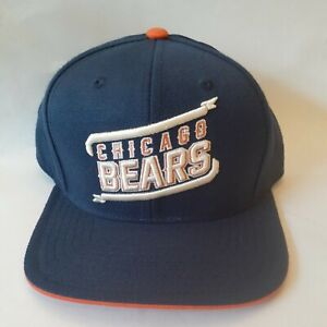 NFL Team Apparel Chicago Bears Cap Hat Youth Size Strapback FlatBrim Wool Blend