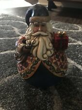Jim Shore Roly Poly Santa With Gift The Season Of Giving #4002417 2005 Box #9
