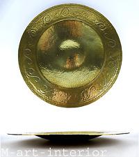 Art Deco Messing Schale getrieben,gepunztbrass bowl German ca 1920