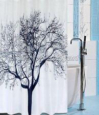 2M Black Big Tree Pattern Design Bathroom Fabric Shower Curtain ys216
