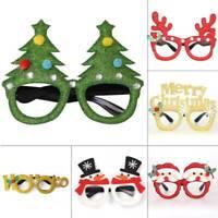 Christmas Party Glasses 2020 Happy New Year Gift Kraft Bag Kid Favors Xmas Decor
