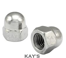 """UNF DOME NUTS A2 STAINLESS STEEL HEX ACORN 10 1/4"""" 5/16"""" 3/8"""" 1/2"""" 5/8"""" 1/2"""""""