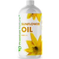 Organic Sunflower Oil Cold Pressed Pure Sunflower Seed Oil 32 OZ