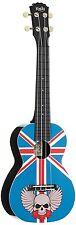 Ukelele de concierto Korala Principiantes Ukelele Nuevo Reino Unido Bandera Calavera Diseño 🇬 🇧 💀