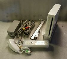 Nintendo Wii White Video Game System Console Bundle Gamecube Compatible RVL-001