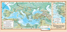 """Early Spread of Christianity & The Seven Churches of Asia Minor Wall Map 36""""x18"""""""