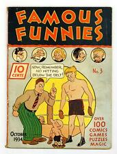 Famous Funnies #3 PR 0.5 1934 1st comic app. Buck Rogers