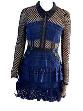 Self Portrait Hazel Mini Dress - Navy Blue - Size 6