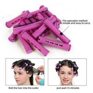 Perm Rods And 24 Pieces 5Sizes Hair Rollers With Hair Cold Rods Curler Wave N3S8