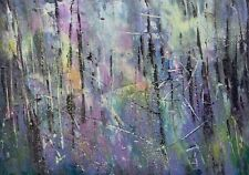 Abstract Woodland, Trees / Landscape Art. Original Acrylic Painting.