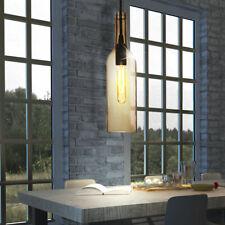 2er Set Glas Decken Pendel Lampen blau Wohn Zimmer Flaschen Hänge Living-XXL