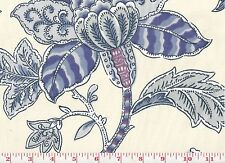 Lovely Blue Floral Drapery Upholstery Fabric by P Kaufmann Brookview Cl Bluebell