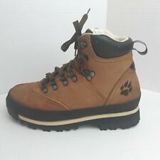 Jack Wolfskin Womens Size 7 Mid Leisure Boot Hiking Nubuck Leather Desert Brown