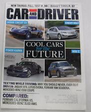 Car And Driver Magazine Dodge Circuit EV Fisker Karma August 2009 072815R