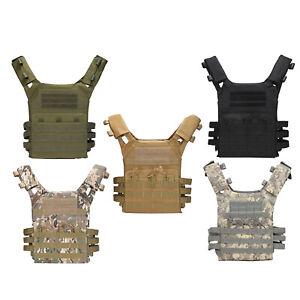Tactical Vest Plate Carrier   Wargame Molle Webbing  Clothes