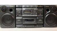 Panasonic RX-DS750 Stereo XBS Boombox Radio CD Tape Cassette - Parts or Repair