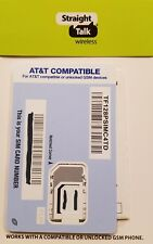 Straight Talk SIM card • AT&T ATT Samsung Galaxy Note 5 Note 8 Note 9