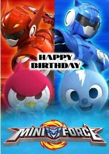 Mini Force Happy Birthday Card Greeting Card (inside printing) High Quality