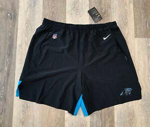 "Nike Carolina Panthers Sideline Player Issued Flex Woven 8"" Shorts Mens Size 3XL"