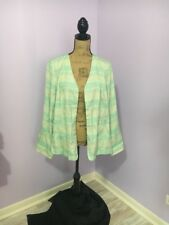 Woman's Open Front Jacket Light Green Chico's SIze 3 (16/18)