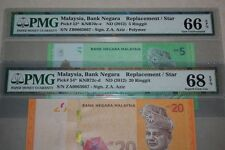 (PL) RM 5 ZB RM 20 ZA 0063667 PMG 66-68 EPQ ZETI REPLACEMENT LOW SAME NUMBER UNC
