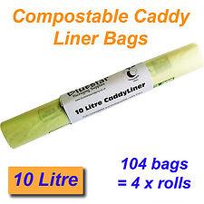 104 x 10 Litri Compostabili i rifiuti alimentari CADDY FODERA sacchetti biodegradeable