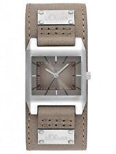 s.Oliver Damenuhr Uhr Leder Beige Braun Modern Analog SO-2165-LQ
