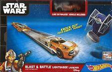 STAR WARS Blast & Battle Lightsaber Launcher. Luke Skywalker. Hot Wheels. NRFB.