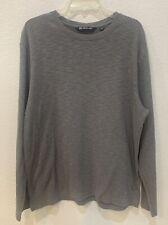 Travis Mathew Gray Long Sleeve Henley Shirt Gray XL