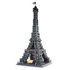 Weltberühmtes Gebäude Eiffel Tower Bausätze WG5217 Kunststoff Bricks 978pcs ovp