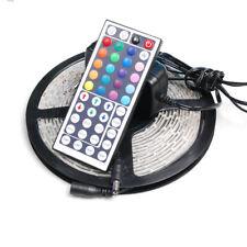 5m 5050 SMD LED RGB Band Leiste Strip Streifen Band+ Fernbedienung+Netzteil IP65