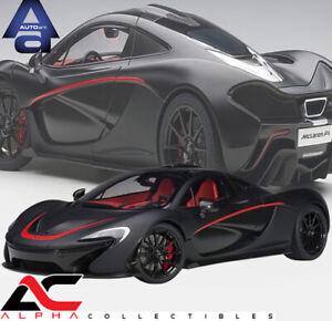AUTOART 12241 1:12 McLAREN P1 (MATT BLACK WITH RED ACCENTS) SUPERCAR