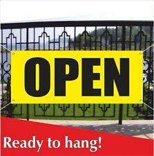 Open Banner Vinyl / Mesh Banner Sign Restaurant Shop Store Cloths Grand Opening
