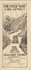 1920's Sealand Auto Tours New York Promo Brochure