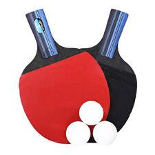 BOLI Professional Table Tennis Racket Set 2 Ping Pong Bats 3 Balls + Bag UK O9K9