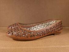 Michael Michael Kors Womens Cut Out Leather Ballet Flats Brown Sz 6.5 M Shoes