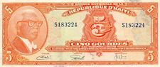 Haiti  5  Gourdes  ND.1980's   Series  S  Circulated Banknote  LBB