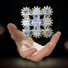 EDC 9 Gear Teeth Hand Fidget Spinner Linkage Metal Finger ADHD Focus Bearing Toy