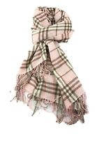 Burberry Stola Sciarpa Scarf Cashmere 100% Classic Rosa Pink Beige Usata Ottima