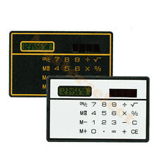 Calculatrice calculette solaire format carte de crédit - Pas Cher -