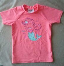 Mango  Surf size 5 girl's rash top swimwear cute mermaid short sleeve
