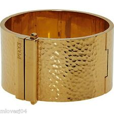 EMILIO PUCCI Gold Tone Bark embossed Cuff Bracelet BNIB and Dust bag